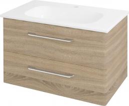 Sapho PURA umyvadlová skříňka 77x50, 5x48, 5cm, dub starmood PR082
