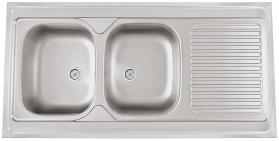 Nerezový dřez Sinks CLP-A 1200 DUO M 0,6mm matný RDCPM12060026M