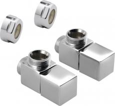 Sapho CUBE připojovací sada ventilů ruční rohová, chrom CP4010S