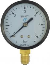 """Klum Tlakoměr 50 mm, 0 - 10bar, spodní vývod 1/4"""" PR3015"""