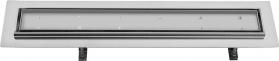 Sapho FLOW 67 nerezový sprchový kanálek s roštem pro dlažbu, 670x150x82 mm FP202