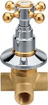 Reitano Rubinetteria ANTEA podomítkový přepínač, chrom/zlato DEVIN22