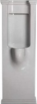 Kerasan WALDORF urinál 44x124, 5x34cm, včetně sifonu a upevňovací sady 413101