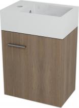 Sapho LATUS V umyvadlová skříňka 35, 6x40x23cm, Ořech bruno LT060