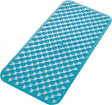 Aqualine GEO podložka do vany 36x71cm s protiskluzem, kaučuk, modrá 97367111