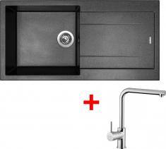 Granitový dřez Sinks AMANDA 990 Metalblack+ELKA AM99074ELCL