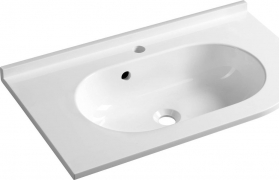 Sapho PULSE umyvadlo 75x4, 4x45cm, litý mramor, bílá, levé BM752