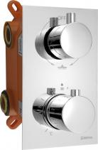 Sapho KIMURA podomítková sprchová termostatická baterie, box, 3 výstupy, chrom KU383