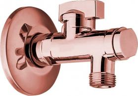 Reitano Rubinetteria Rohový ventil s matkou, 1/2'x 3/8', růžové zlato 2020RZL