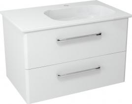 Sapho PURA umyvadlová skříňka 77x50, 5x48, 5cm, pravá, bílá PR087
