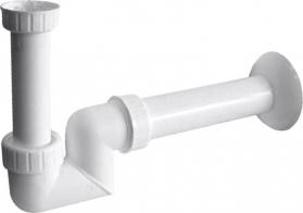 Sapho Umyvadlový sifon 1'1/4 nízký, odpad 40mm, bílá CV1025