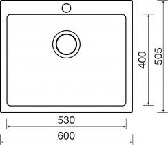 Sinks CERAM 600 Bílá MP68311