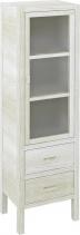 Sapho BRAND skříňka 2 šuplíky, prosklená dvířka 40x140x30cm, pravá, starobílá BA042