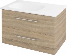 Sapho PURA umyvadlová skříňka 77x50, 5x48, 5cm, levá, dub starmood PR085