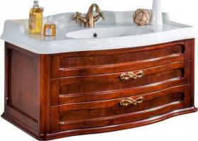 Gallo Wood FIORE UP 105-S závěsná skříňka s umyvadlem, š. 105cm, noce FUPN-105
