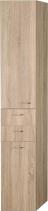 Aqualine ZOJA/KERAMIA FRESH skříňka vysoká s košem 35x184x29cm, dub platin 51232