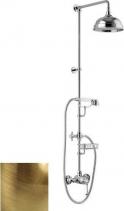 Alpi LONDON II sprchový sloup s pákovou baterií, mýdlenka, výška 1291mm, bronz LO41RM2250BR