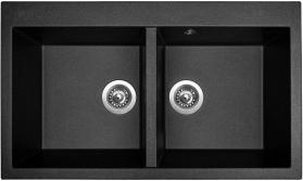 Granitový dřez Sinks AMANDA 860 DUO Metalblack MP68258