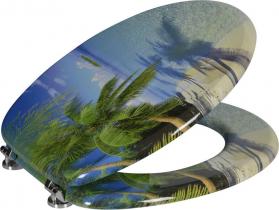 Aqualine FUNNY WC sedátko s potiskem palma HY-S351