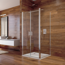 Mereo Sprchový kout, Lima, čtverec, 100x100x190 cm, chrom ALU, sklo Čiré, dveře lítací CK86533K