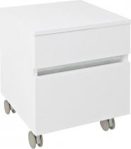 Sapho AVICE skříňka na kolečkách, 2x zásuvka 45x57x48, 5cm, bílá (AV063) AV063-3030