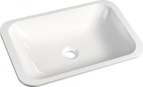 Sapho JAPURA umyvadlo 55x36 cm, litý mramor, bílá, zápustné 50135