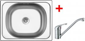 Nerezový dřez Sinks CLASSIC 500 6M+VENTO 4 CL5006MVE4CL