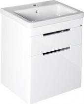 Sapho ELLA umyvadlová skříňka 56, 5x65x43cm, 2xzásuvka, bílá (70062) EL062-3030