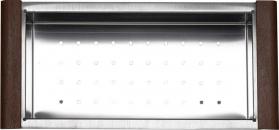 Sapho Nerezový košík ke dřezům EPIC a ZONDA, 22x44x10 cm EP200
