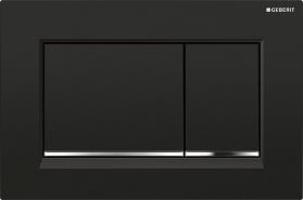 Geberit GEBERIT SIGMA30 ovládací tlačítko, 2 množství splachování, černá/chrom lesk/černá, plast 115.883.KM.1