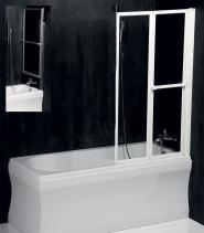 Polysan LANKA2 pneumatická vanová zástěna 820 mm, bílý rám, čiré sklo 37517