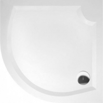 Gelco LAURA100 sprchová vanička z litého mramoru, čtvrtkruh 100x100x4cm, R500 GL501