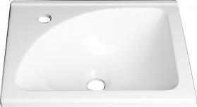 Aqualine Umyvadlo 40x32 cm, litý mramor, bílá LM408