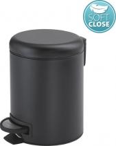 Gedy POTTY odpadkový koš 3l, Soft Close, černá mat 320914