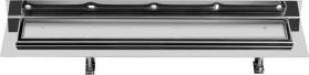 Sapho CORNER 77 nerezový sprchový kanálek s roštem pro dlažbu, ke zdi 770x130x82 mm FP513