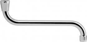 Sapho Výtoková hubice tvar S, prům. 18mm, L 277mm, 3/4', chrom 15S250