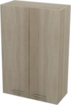 Aqualine ZOJA/KERAMIA FRESH skříňka horní 50x76x23cm, dub platin 51304