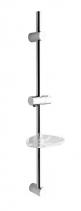 Sapho Posuvný držák sprchy s mýdlenkou, 810mm, chrom (nastavitelná rozteč) 1206-06