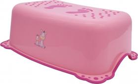 Aqualine Dětské protiskluzové stupátko do koupelny Zebra, růžová 3196