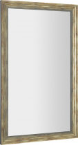 Sapho DEGAS zrcadlo v dřevěném rámu 716x1216mm, černá/starobronz NL732