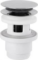 Omp Tea Uzavíratelná kulatá výpusť pro umyvadla s přepadem Click Clack, V 30-45 mm, chrom 4830.360.5