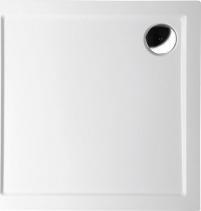 Polysan AURA sprchová vanička z litého mramoru, čtverec 80x80x4cm, bílá 42511