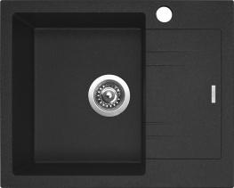 Granitový dřez Sinks LINEA 600 N Granblack LEVÝ SIGLI600480N30L