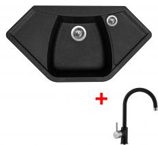 Granitový dřez Sinks NAIKY 980 Granblack+VITALIA GR NA98030VIGR30
