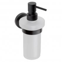 Sapho X-ROUND BLACK dávkovač mýdla, mléčné sklo, 250ml, černá (104109010) XB100
