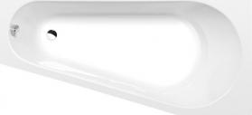 Polysan PROJEKTA R asymetrická vana 160x80x44cm, bílá 21111
