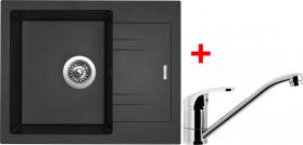 Granitový dřez Sinks LINEA 600 N Metalblack+PRONTO LI60074NPRCL