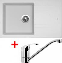 Granitový dřez Sinks LINEA 780 N Milk+PRONTO LI78028NPRCL