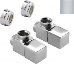 Sapho CUBE připojovací sada ventilů ruční rohová, stříbrná CP4520S
