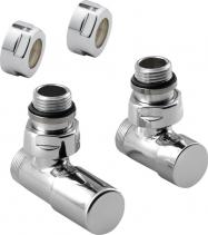 Sapho COMPACT připojovací sada ventilů ruční rohová, chrom CP5015S